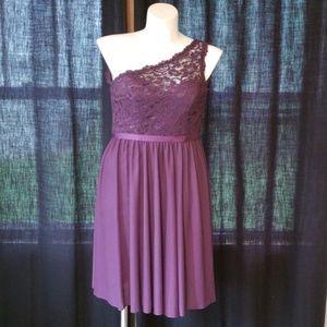 David's Bridal Plum Dress Sz 6